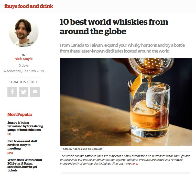 Penderyn 10 Best World Whiskies