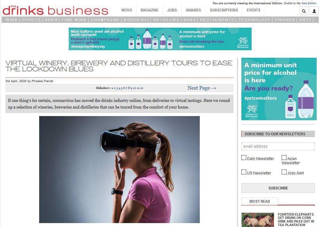 Penderyn Virtual Tour Drinks Business